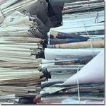 stapel papier minder door gebruik iPad