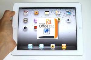 afbeelding iPad met MSoffice2010