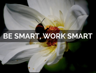 be smart, work smart